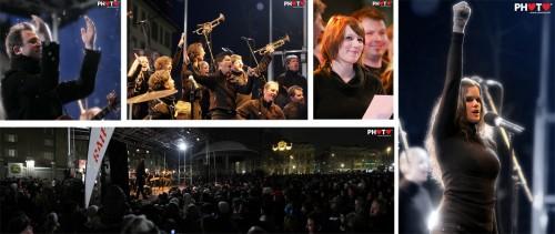Gustav und Chor 05.12.2010 @ Place Python, Fribourg by stemutz