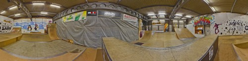 360° Panorama @ Wuiuai Skatepark, Heitenried, Switzerland, by stemutz