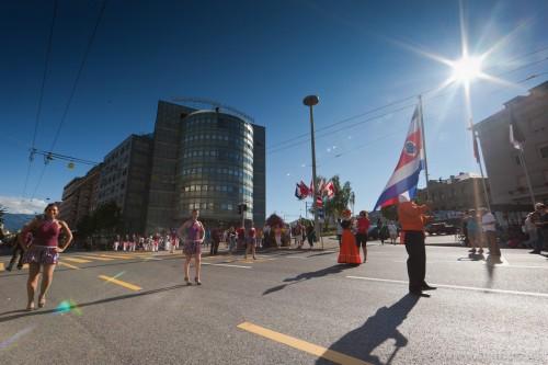 Sunny Costa Rica  ... Parade de tous les groupes @ RFI 2011, Fribourg, 16.08.2011