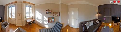 360° Panorama du salon fraichement décoré aux nouvelles loges du Nouveau Monde, Fribourg ... by stemutz