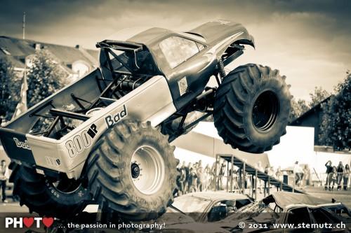 Bigfoot Monster Trucks  ... Fun & Action Stuntshow @ Payerne, Switzerland, 24.07.2011