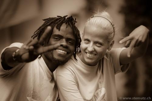 Cultural contrasts: Kenya and Serbia ... Game Day @ RFI 2012, 16.08.2012