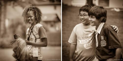 Kenya Lion Lady / Taiwan and Swiss Boys ... Game Day @ RFI 2012, 16.08.2012