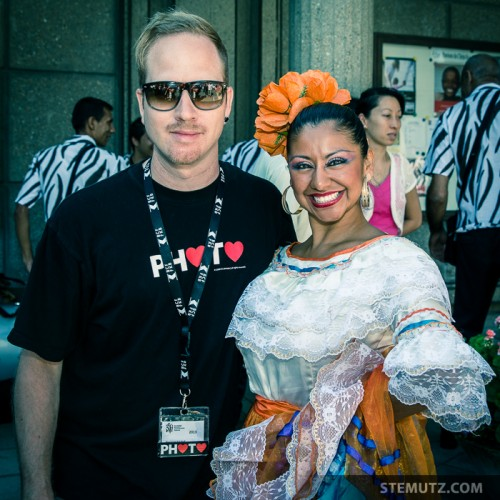 With Dancer Yamileth of Farallones, Colombia @ RFI 2013: Family Day, 18.08.2013