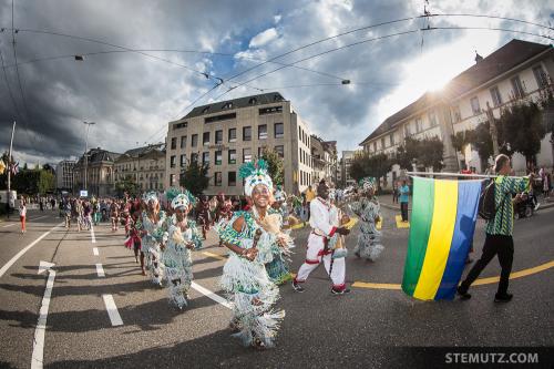 Gabon brings the Sun ... RFI 2014 Opening Parade, Fribourg, 19.08.2014