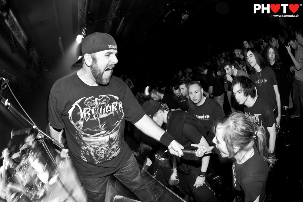 hardcore energy  stagediving and screaming fans