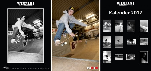 Cover / January picture by STEMUTZ ... WUIUAI Skateboard Calendar 2012