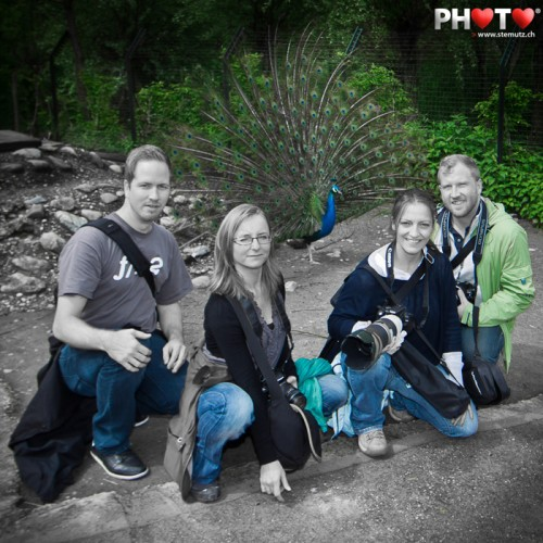 Photo Course Training 2012 ... creative group picture with peacock wheel!