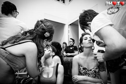Préparation Isabelle Starkman & Ana Inacio ... MISS INK 2012 @ Ancienne Gare ...