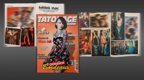 Publication de 8 images MISS INK 2012 dans Tatouage Magazine No. 88 09_2012