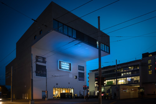Dance Outside The Box at Théâtre Équilibre by night!