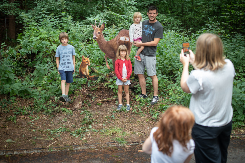 ... selfies et photos de groupe avec l'Installation photo à Festiwald 2019 par stemutz