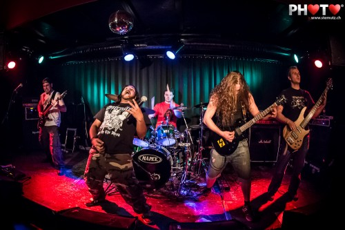 Feel the Death-Metal action ... Nihilo @ Bad Bonn, Düdingen, 04.01.2013