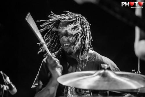 Drummer Thomas Pridgen (ex-Mars Volta) ... Itch (UK) @ Ebullition, Switzerland