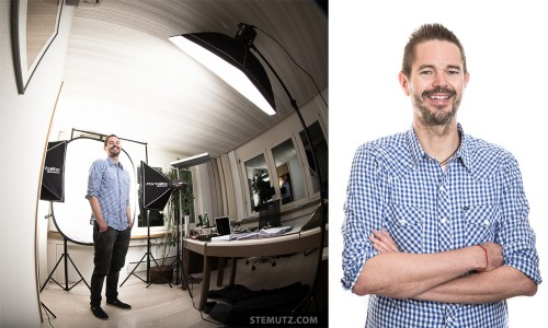 Test Shot with Pete ... Mobile Studio installed in Office @ Datamed Corporate Shoot