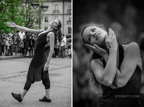 """Arielle de Sadeleer """"signes""""... Fête de la danse 2013 @ Place Georges Python"""