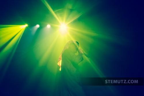 Lightshow ... Omar Souleyman (SY) @ Fri-Son, Fribourg, Switzerland, 07.05.2013