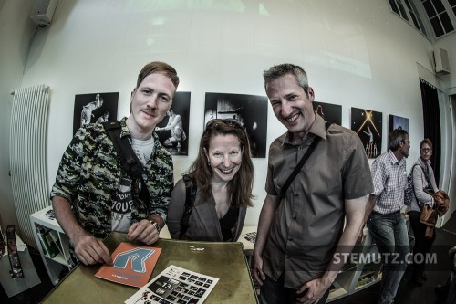 "Karine, Stephan & myself ... Vernissage Expo Photo ""13x2"" @ Ancienne Gare"