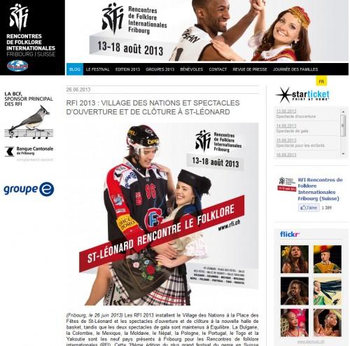 Réalisation des photos de la campagne officielle des RFI2013