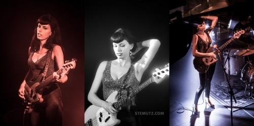 Bass Player Svetlana aka Zombierella ... Messer Chups (RU) @ Ebullition, Bulle