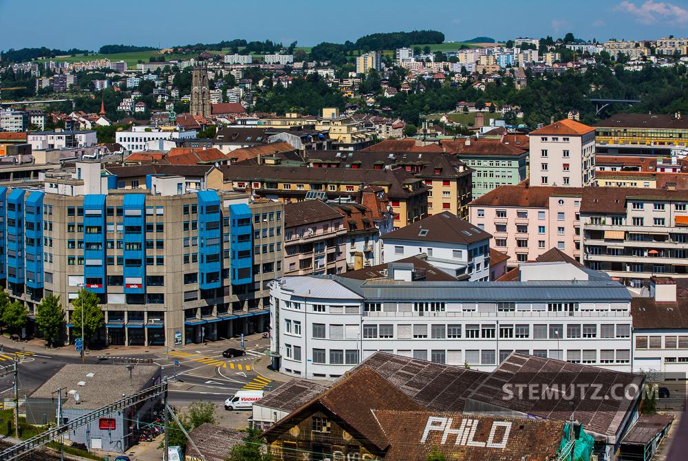 fribourg city view    freiburger stadtaussicht    vue sur la