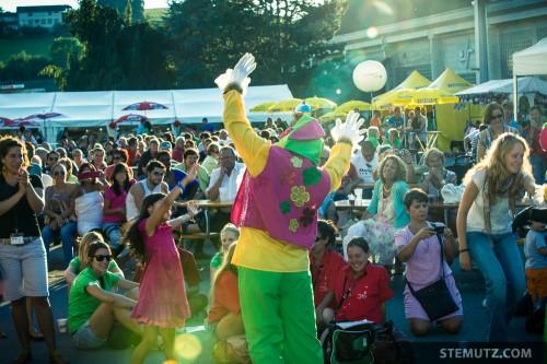 Colombian Clown ... RFI 2013: Village des Nations, St-Léonard, Fribourg, 15.08.2013