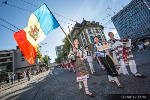 Moldavia ... RFI 2013: Cortège d'ouverture, Fribourg, 13.08.2013