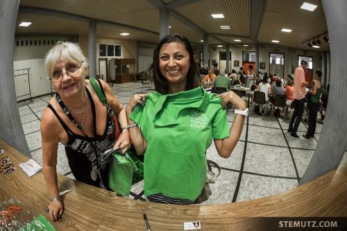 Apple Green is the new Black .... RFI 2013 Volunteers T-Shirt Check! :-)