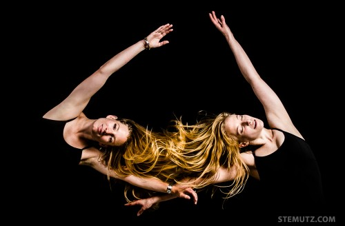Studio Dance Shoot with Classical Dancers Nath and Claire, September 2013