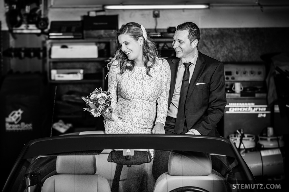 Italian garage wedding portrait on location shoot di for Garage bmw fribourg