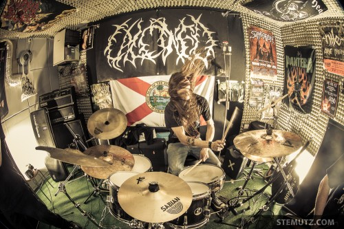 Drummer Lionel in Action ... Photo Shoot of Death-Metal Band CALCINED