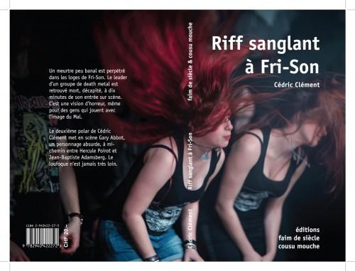 Publication d'image sur couverture de livre Riff sanglant à Fri-Son, par Cédric Clément