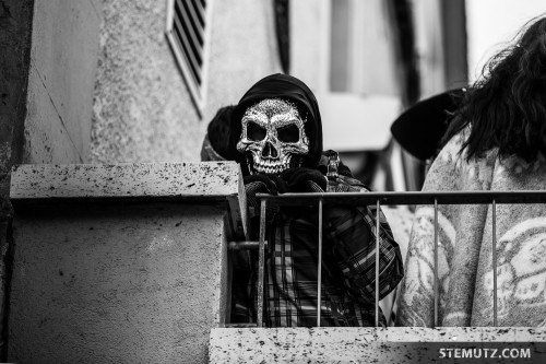 Death is watching ... Carnaval des Bolzes 2014, Fribourg, Suisse, 02.03.2014