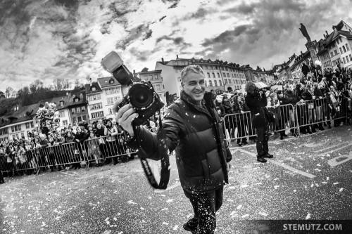 Press Photographer Charles Ellena of Freiburger Nachrichten being attacked ... :-)