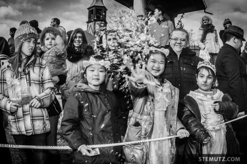 Confetti Shower ... Carnaval des Bolzes 2014, Fribourg, Suisse, 02.03.2014