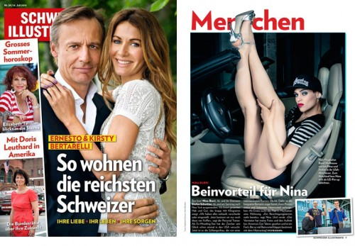 Publication of full image of Nina Burri / SCHWEIZER ILLUSTRIERTE Nr.29 07-2014!