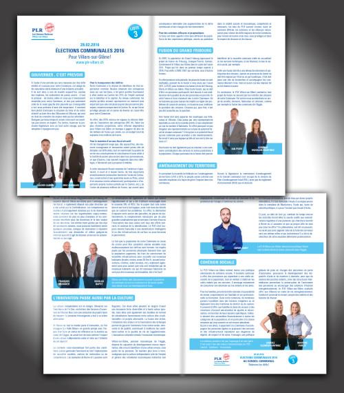 Brochures et programmes, PLR Villars-sur-Glâne Campagne 2016