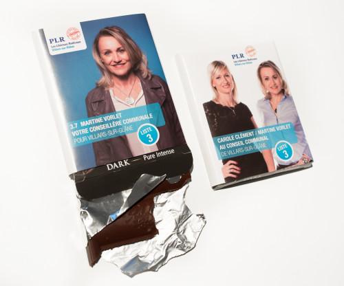 Packagings de chocolat, PLR Villars-sur-Glâne Campagne 2016