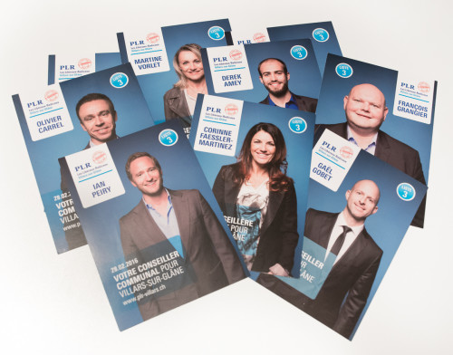Cartes individuelles candidats, PLR Villars-sur-Glâne Campagne 2016