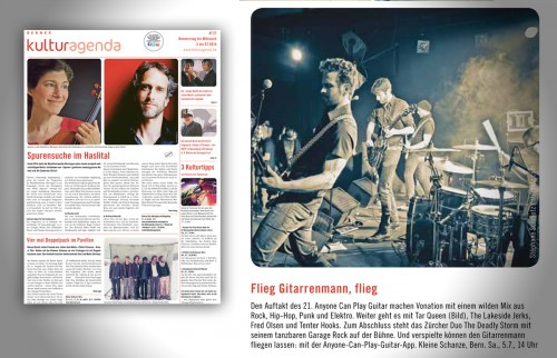 Tar Queen live picture published in Berner Kulturagenda Nr. 27
