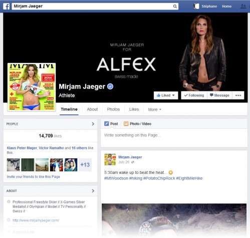 Press Picture on Mirjam Jaeger's Official Facebook Page Header