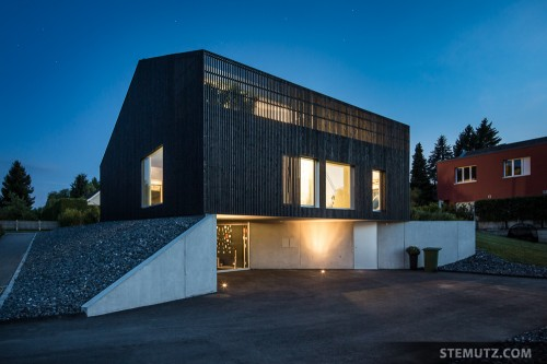 Blue Hour ... Villa P by virdis architecture, Corminboeuf, Switzerland, 19.06.2014