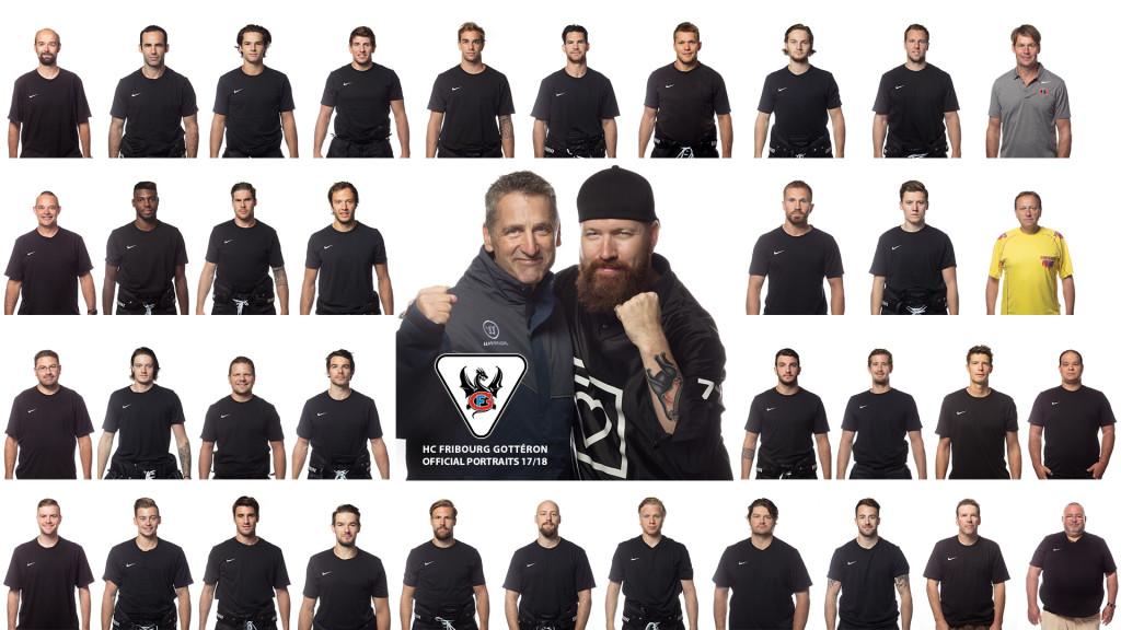 HC Fribourg Gotteron Portraits Officiels photographe studio fribourg stemutz