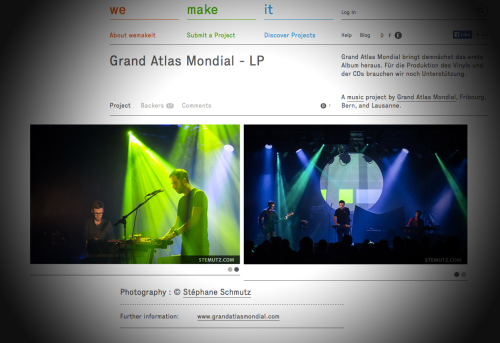 Publication of 2 Pictures of the Band GRAND ATLAS MONDIAL on www.wemakeit.com