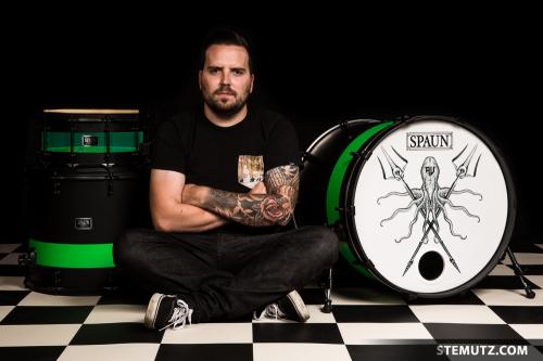 Bertrand Monney for SPAUN Drums, CHAMBRE NOIRE Studio, 17.09.2014