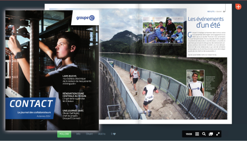 Published 3 Pictures in Groupe E Magazine CONTACT, 2014-2