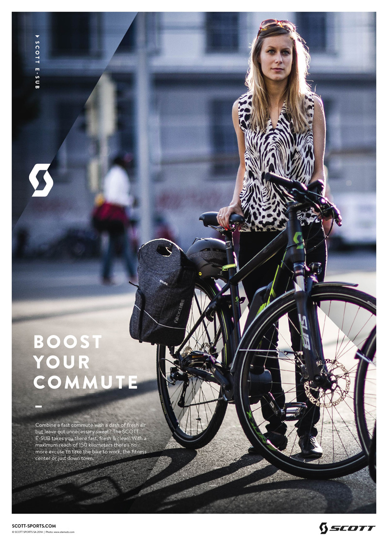 SCOTT City Lifestyle Images by STEMUTZ.COM published in the URBAN BIKES catalogue and adverts!
