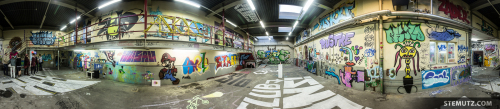 360° Panorama: Vernissage: Take a Wall @ blueFactory, Fribourg, Switzerland, 18.10.2014