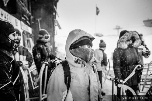 Cold, very cold ... Luge & Raclette Bénévoles Nouveau Monde, Winter 2015
