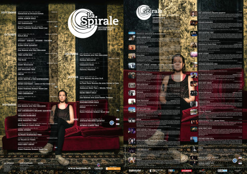 Publishing of an Anna Aaron Portrait shot by STEMUTZ for the program and poster of LA SPIRALE!